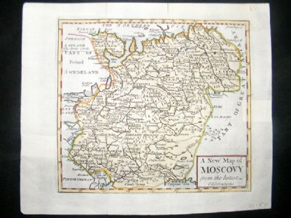 Senex C1740 Antique Hand Col Map. A new map of Moscovy, Russia | Albion Prints